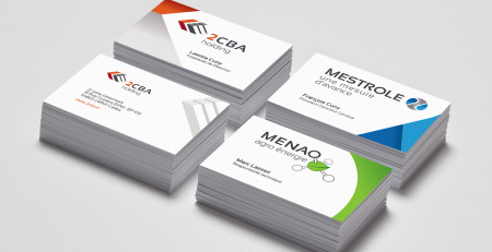 Corporate Design Menao - Visitenkarten