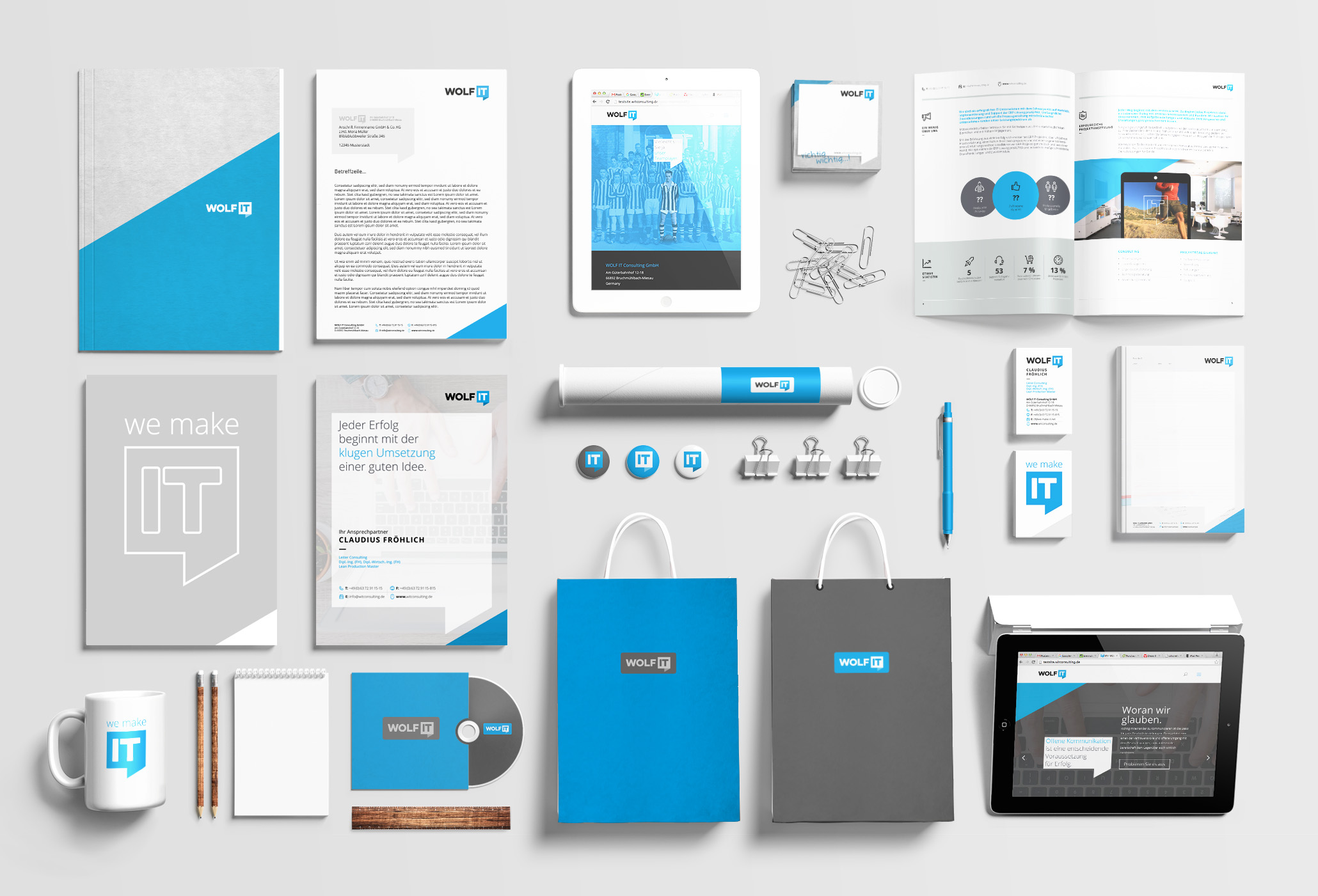 Komplette Redesign WOLF IT, Corporate Design (2)